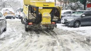 Sarıyer'de karla topyekün mücadele