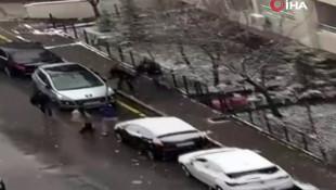 Gelecek Partili Selçuk Özdağ'a saldırı anı kamerada!