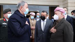 Bakan Akar, Barzani ile görüştü