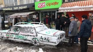 Kardan araba yapan esnaf ve polis arasında komik diyalog