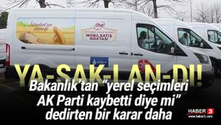 Bakanlık mobil ekmek büfelerini yasakladı