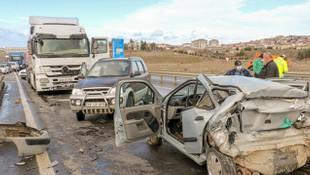 Edirne'de zincirleme kaza: 1 kişi hayatını kaybetti