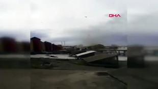 Şiddetli lodos çatıyı uçurdu