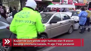 Kayseri'de feci kaza: 7 yaralı