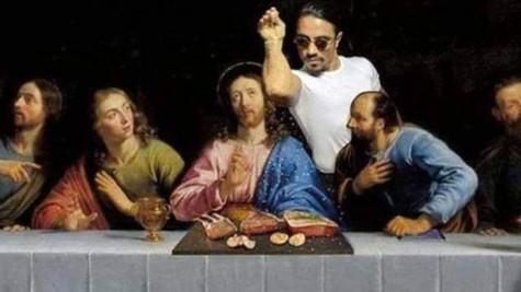 Hz. İsa'nın yer aldığı tabloya Nusret montajı ortalığı karıştırdı