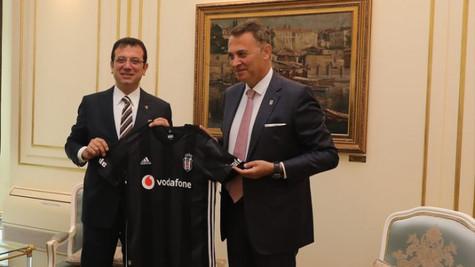 Beşiktaş Kulübü yönetiminden Ekrem İmamoğlu'na ziyaret