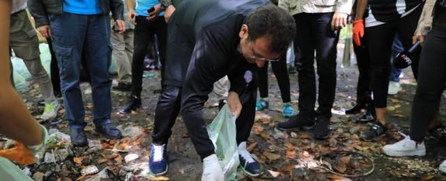 İmamoğlu, Belgrad Ormanı'nda çöp topladı