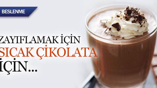 Zayıflamak için sıcak çikolata için
