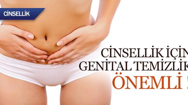 Cinsellik için genital temizlik önemli