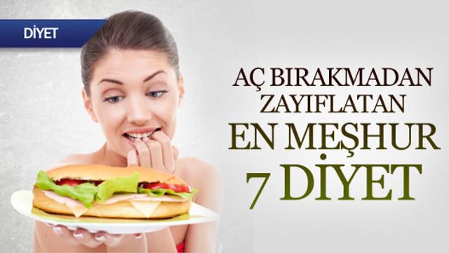 En meşhur 7 diyet