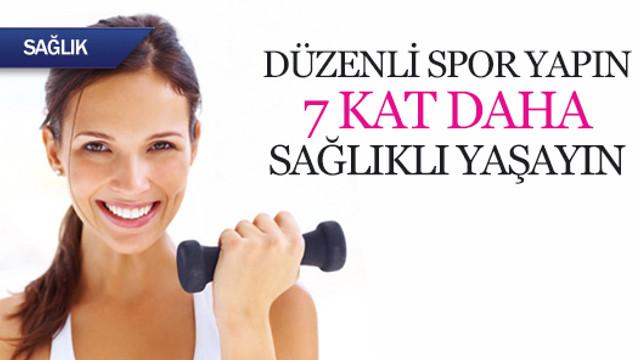 Düzenli spor yapın, 7 kat daha sağlıklı yaşayın