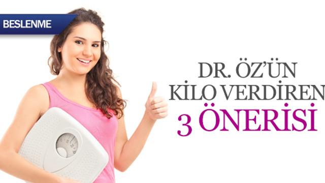 Dr. Öz'ün kilo verdiren 3 önerisi
