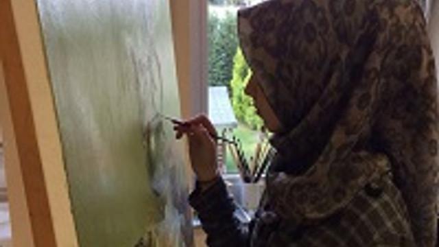 Ressam Melike Solmaz'ın Akademik Desen Sergisi