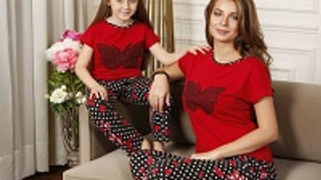 Yeni İnci'den anne kız pijama serisi