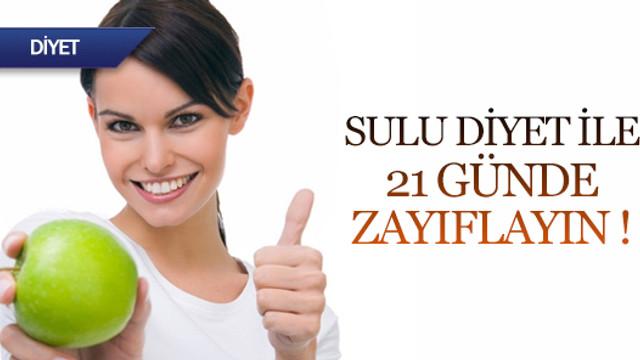 Sulu diyet ile 21 günde zayıflayın
