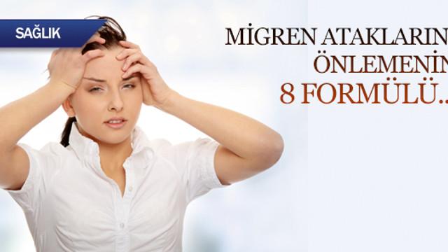 Migren ataklarını önlemenin 8 formülü