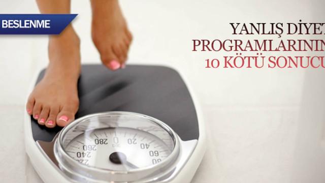 Yanlış diyet programlarının 10 kötü sonucu