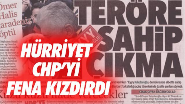 Hürriyet CHP'yi kızdırdı