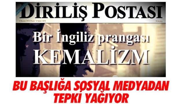 Sosyal medyada Diriliş Postası'na tepki