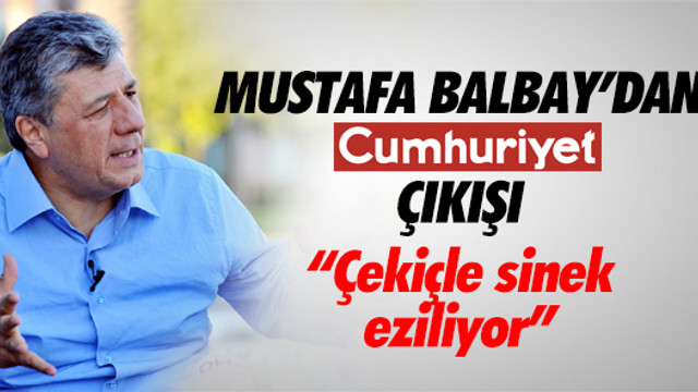 Mustafa Balbay 'operasyon dursun' çağrısı