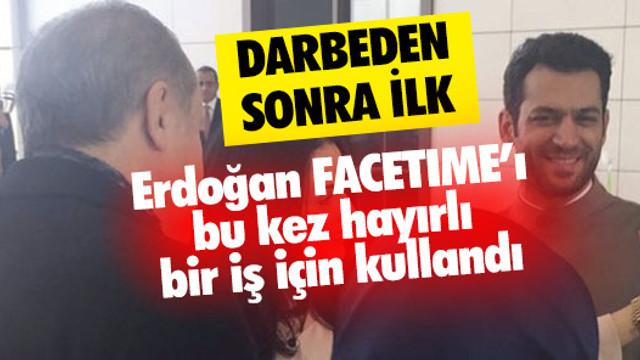 Cumhurbaşkanı Erdoğan FACETIME'dan kız istedi