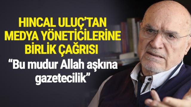 Usta gazeteciden meslektaşlarına birlik çağrısı