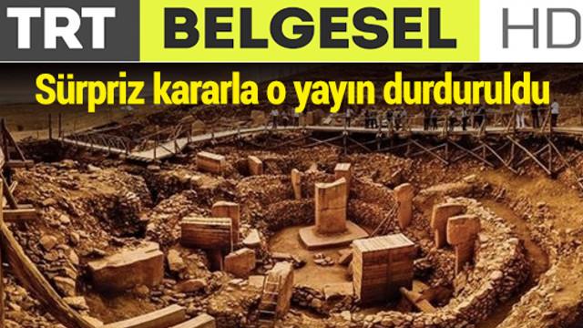 TRT olay belgeselin yayınını durdurdu