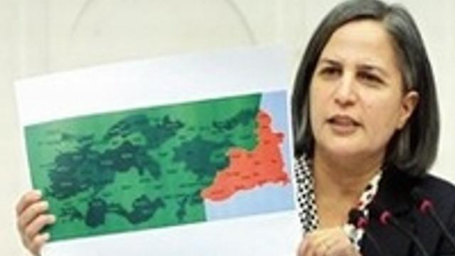 """İşte BDP'nin istediği """"özerk Kürdistan""""ın son haritası"""