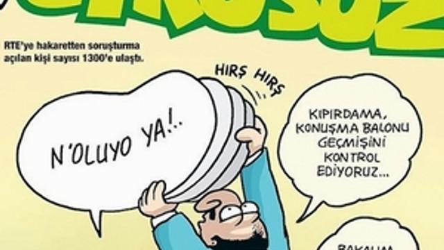 ''Erdoğan'a hakaret'' davalarına Uykusuz yorumu !