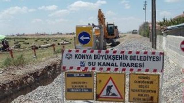Cihanbeyli'de 3 Mahalleye 140 Kilometre Kanalizasyon Şebekesi