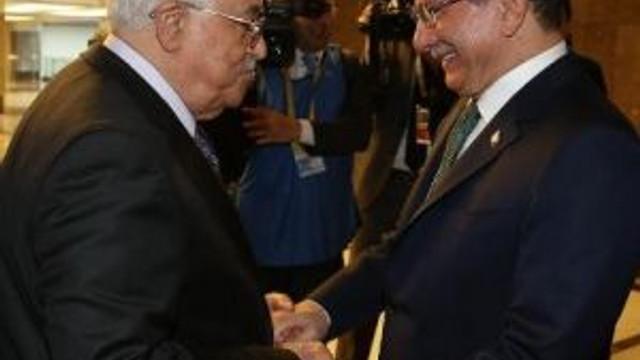 Başbakan Davutoğlu, Mahmud Abbas İle Görüştü