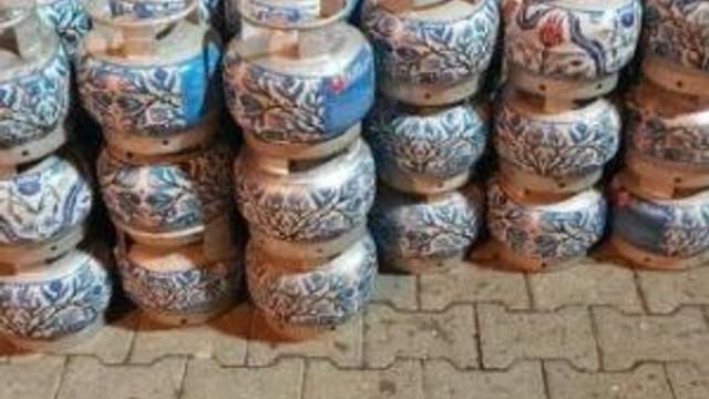 Kahta'da 154 Kaçak Tüp Ele Geçirildi