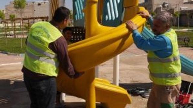 Haliliye'de Parklardaki Oyun Grupları Yenileniyor