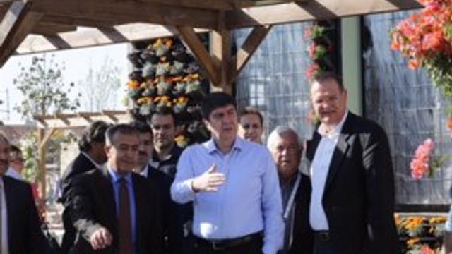 Türel, EXPO Antalya Bahçesi'ni inceledi