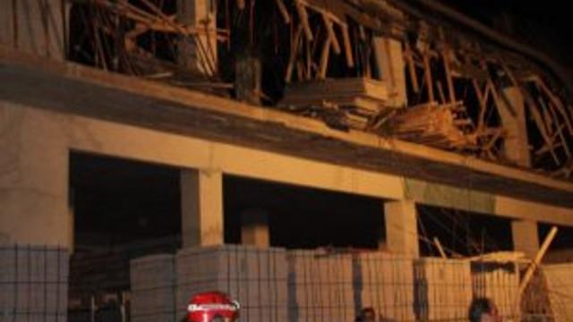Belediye inşaatı çöktü: 4 işi yaralı