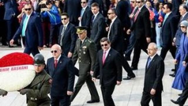 Anıtkabir ve TBMM'deki törenlerde HDP yok
