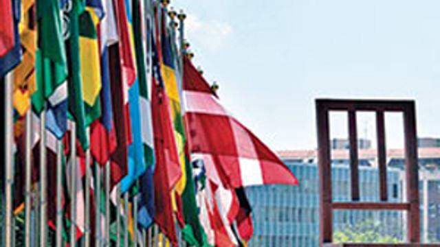 BM önünde olay Türkiye pankartı !