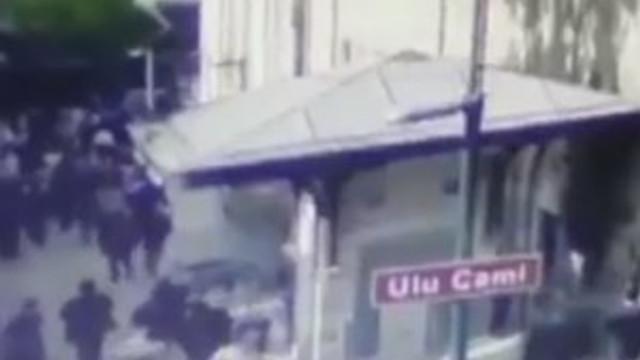 Bursa'daki patlama anı kamerada !