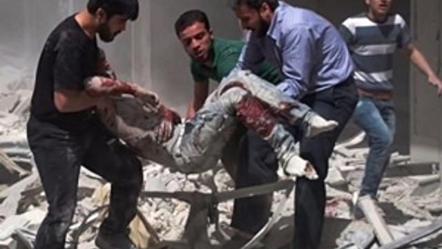 Esed rejimi Halep'i bombaladı !