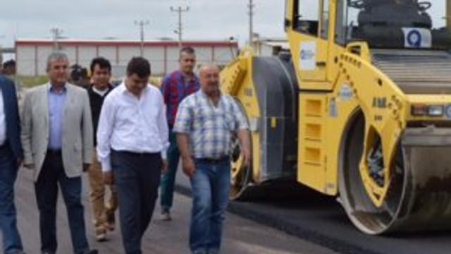 Çandır-Yeşilvadi grup yolunun son halkası da asfaltlanıyor