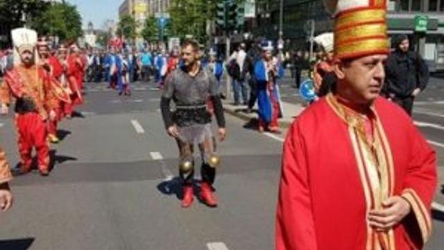 Almanya'da kılıçsız mehter takımı yürüyüşü