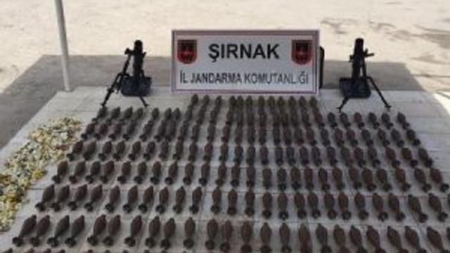 PKK'nın toprağa gömülü cephaneliği bulundu !