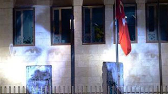 Almanya'da olay görüntü ! Erdoğan'ı Hitler yaptılar
