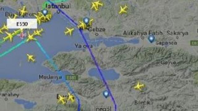 THY uçağı geri döndü