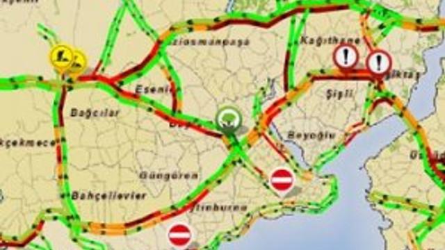 E-5'te kaza: Trafik durdu !