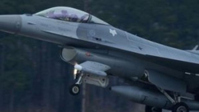 İki F-16 uçağı havada çarpıştı !