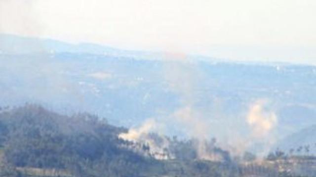 Türkmendağı'nda bombardıman başladı