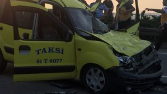 Trabzon'da feci trafik kazası !