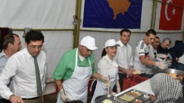 Beşiktaş Belediyesi'nden Kosova'da iftar çadırı