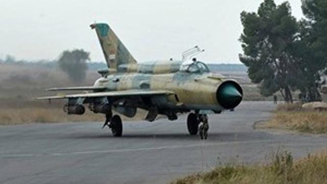 Suriye'de savaş uçağı düştü !